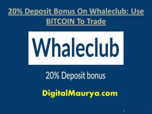 Deposit Bonus On Whaleclub
