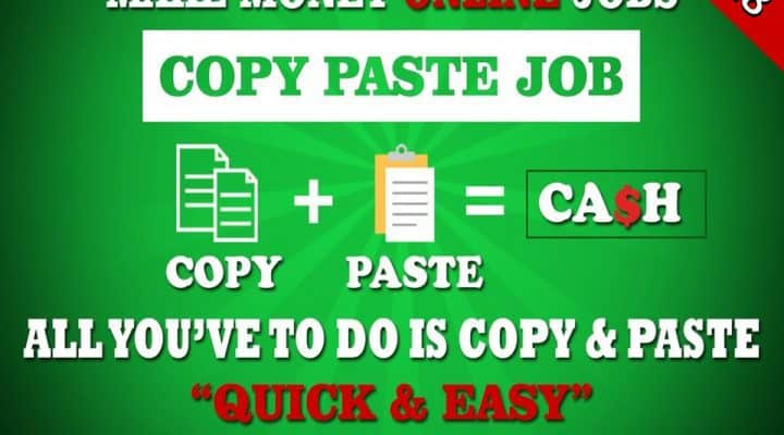 Online Copy Paste Jobs: Without Investment & Registration Fees – Get Daily Payment in India