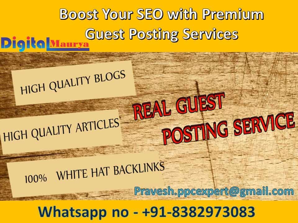Guest Posting Services | Quality Guest Blogs Sites, Blogger Outreach