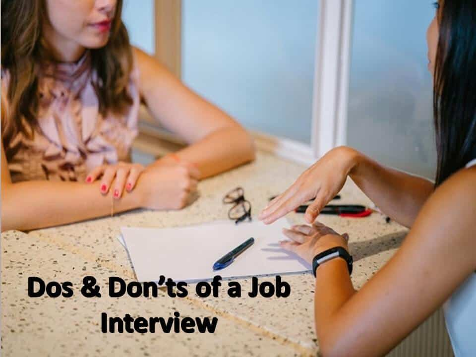 Dos & Don'ts of a Job Interview