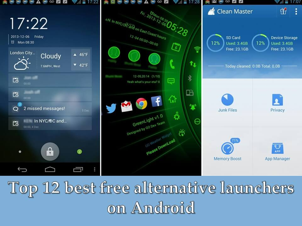 Top 12 best free alternative launchers on Android