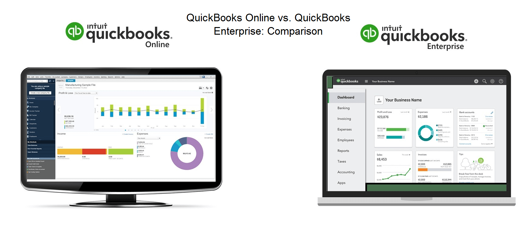 QuickBooks Online vs. QuickBooks Enterprise Comparison