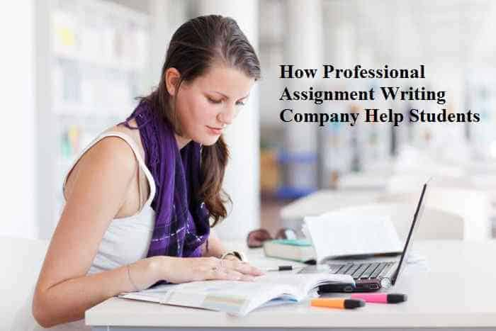 How writing companies help students